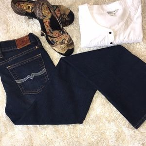 """Lucky Brand """"Sweet 'N Low"""" Style Boot Cut Jeans"""